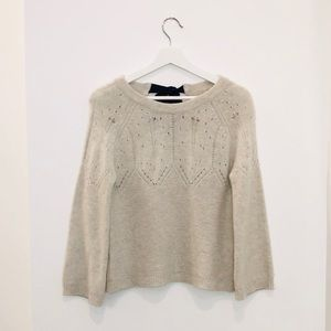 Cashmere tied sweater